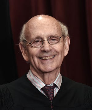 Associate Justice Stephen Breyer poses for a group photograph at the Supreme Court building on June 1, 2017, in Washington, D.C.  (Olivier Douliery/Abaca Press/TNS)