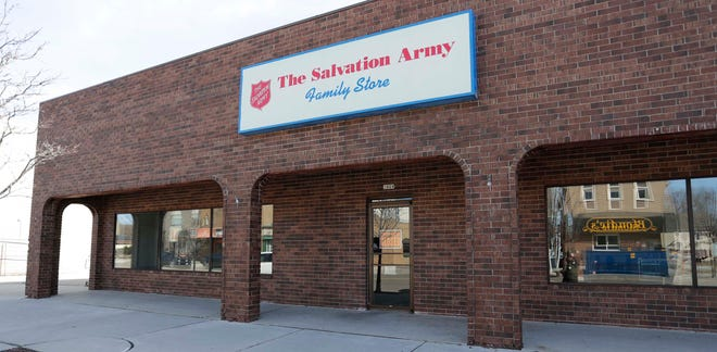 The Salvation Army family store at 1029 MIchigan Avenue has closed as seen, Thursday, March 18, 2021, in Sheboygan, Wis.