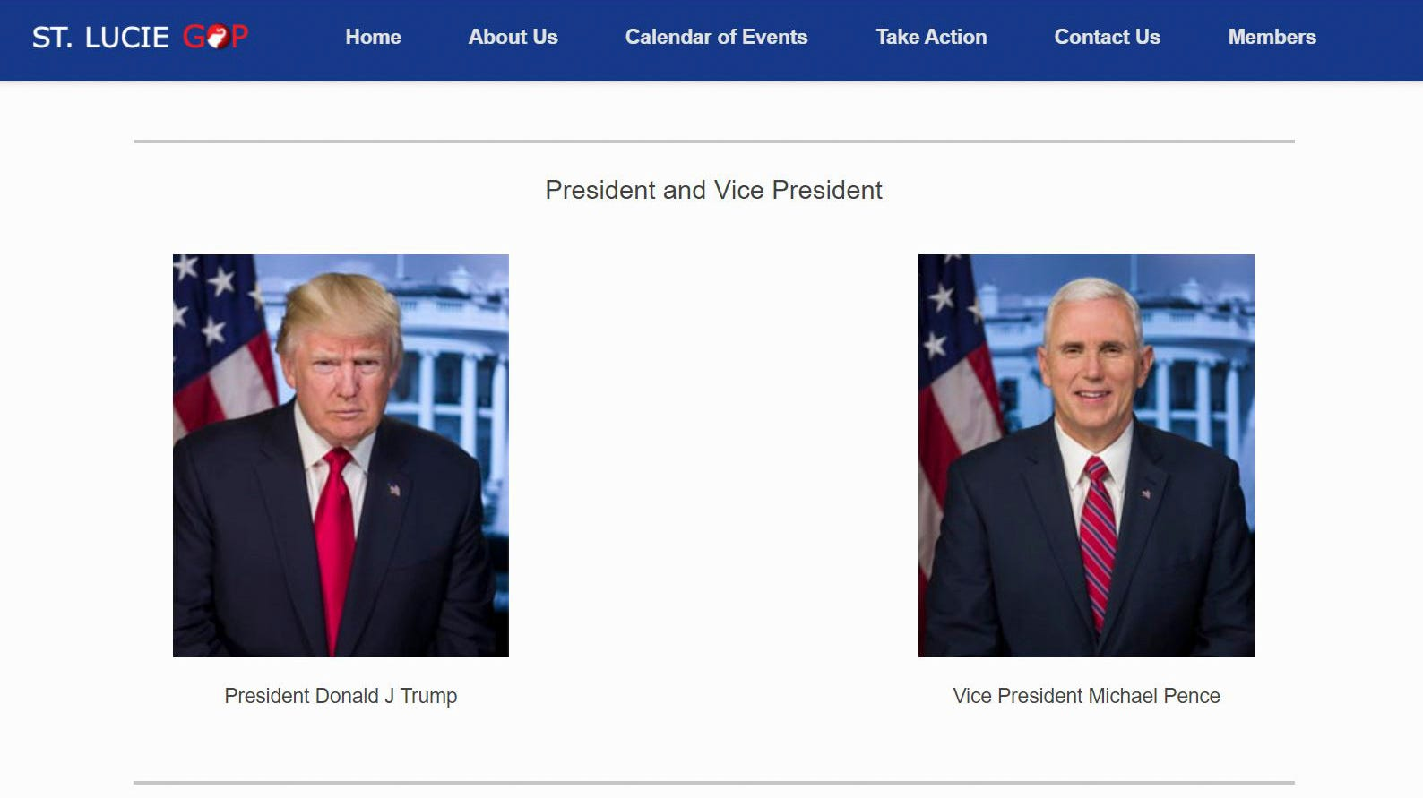 See the list of Florida GOP websites that still show Trump as president 3