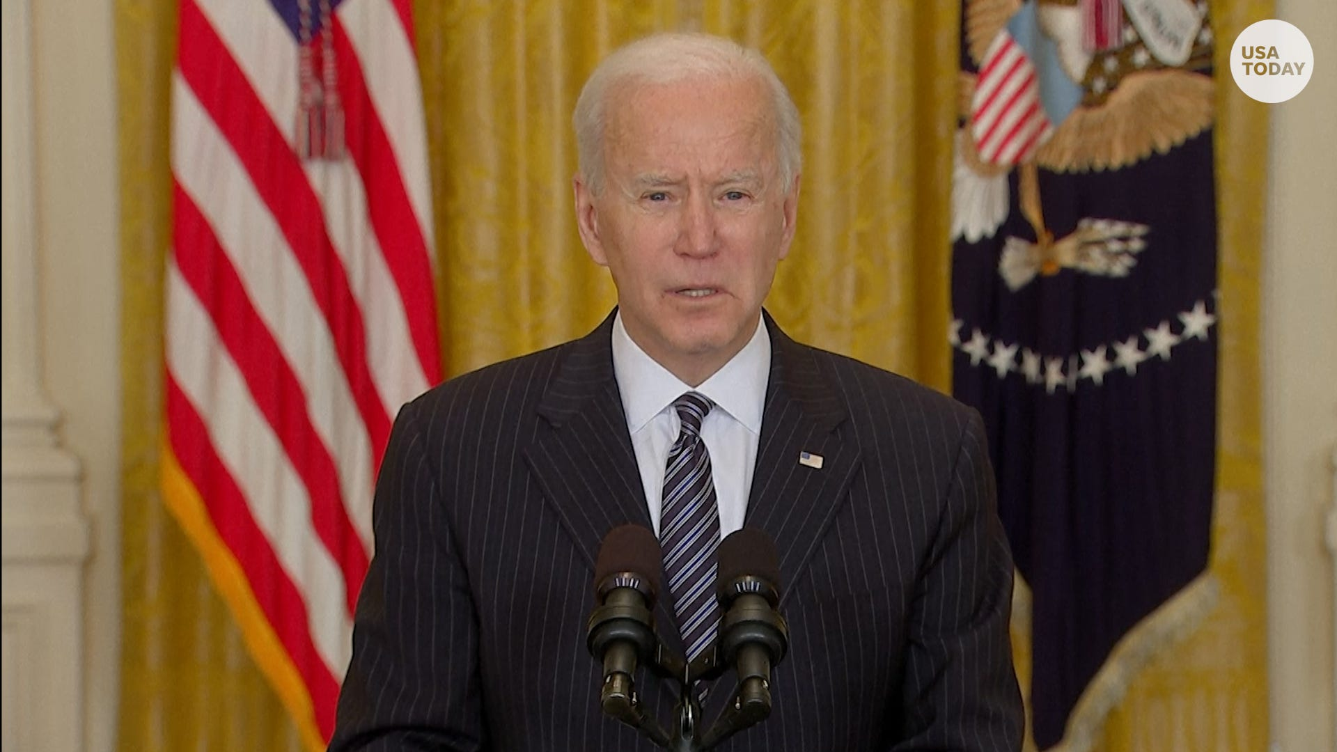 Biden discusses 100 million vaccine doses, looks forward to 'more normal' Fourth of July