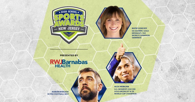 Three-time NFL MVP Aaron Rodgers, two-time FIFA World Cup Champion Alex Morgan and five-time Olympic gold medalist Katie Ledecky will be among a highly decorated group of presenters and guests in the New JerseyHigh School Sports Awards premiering this summer on USA TODAY streaming platforms and channels.