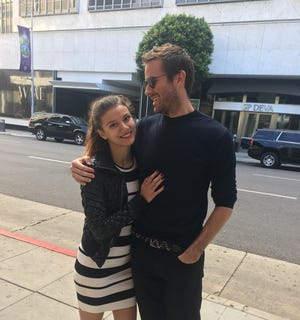 Armie Hammer with a woman named Effie, who says he raped and beat her in Los Angeles in 2017. LA police are investigating.