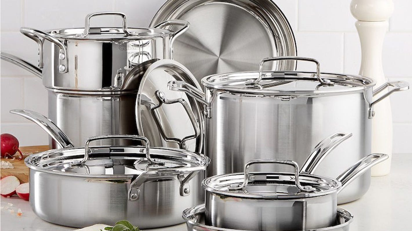 Cuisinart's Multiclad Pro is our favorite stainless-steel cookware set—and it's on sale