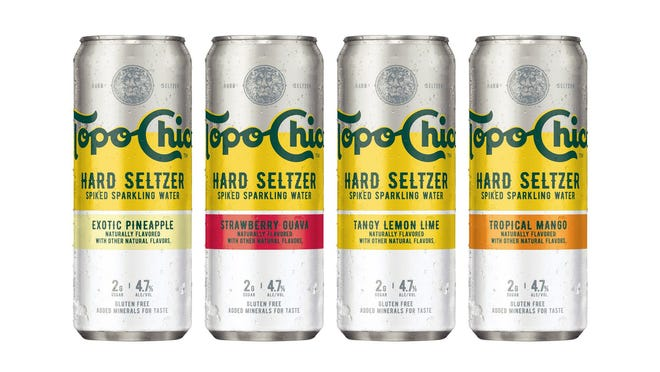 Topo Chico Hard Seltzer will hit retailers in late March. This is the brand's first foray into alcoholic beverages.