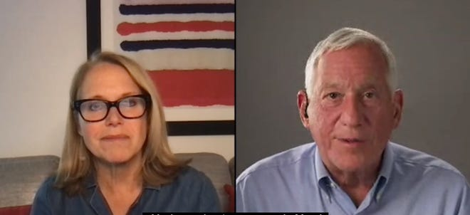 Author Walter Isaacson spoke with journalist Katie Couric during a South by Southwest panel on Friday.
