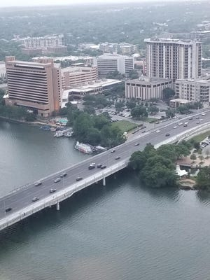 The 448-room Hyatt Regency Austin (left foreground) overlooking Lady Bird Lake has been purchased by  Bethesda, Md.-based Host Hotels& Resorts for about $161 million in cash. The acquisition came aheadof a planned foreclosure auction.
