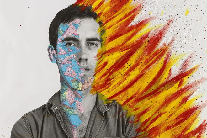 """A self-portrait of painter David Wojnarowicz featured in the new documentary, """"Wojnarowicz,"""" available for streaming rental at athenscine.com beginning Friday, March 19. The film centers on how AIDS impacted the artist's work and activism up until his death in 1992 at age 37."""
