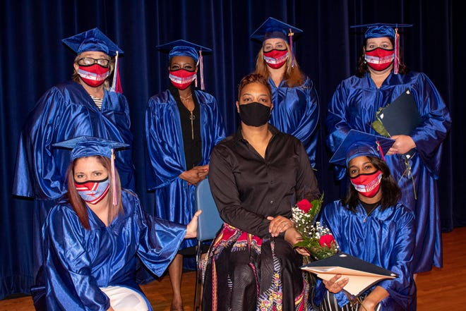 The six students in Alliance Career Center's Medical Billing Specialist/Medical Biller program took part in a recent graduation ceremony. The students were the first to take part in the program.