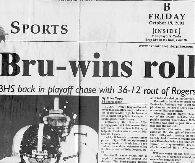 Oct. 19, 2001, Examiner-Enterprise Sports