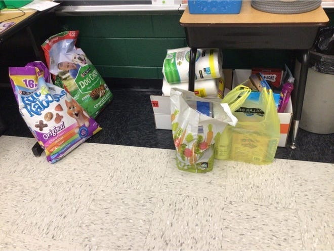 AES Cares is a school wide community service project at Avon Elementary School. They are collecting donations for the Humane Society of Fulton County until March 31.