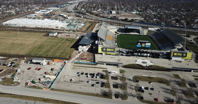 There are new soccer fields as part of a Columbus Crew training facility next to Mapfre Stadium, but there are not yet any of the proposed soccer fields, basketball courts or other recreational opportunities for the general public.