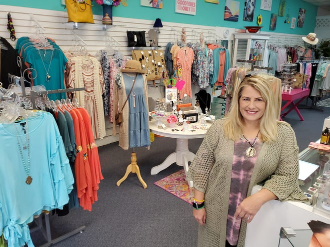 Merle Norman Cosmetics in Lexington has undergone a transformation since new owner Casie Ridenhour took over in January. Half of the store is a women's boutique featuring clothing, jewelry, purses, hats and more.