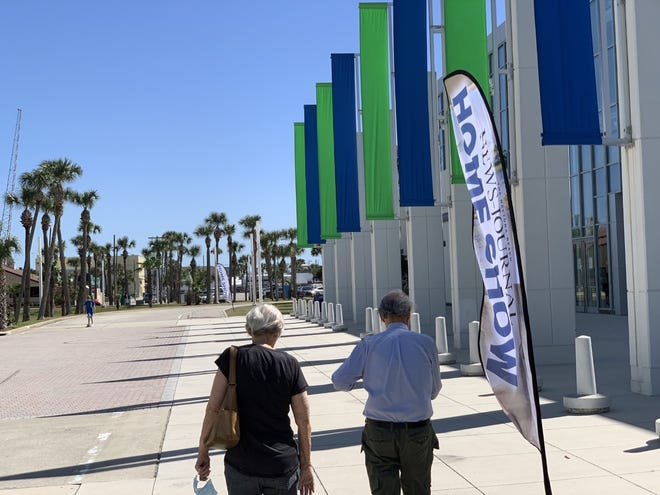 The beachside Ocean Center convention complex at 101 N. Atlantic Ave. in Daytona Beach is hosting the News-Journal's 32nd annual Spring Home Show which began Friday, March 19, 2021, and runs through Sunday.