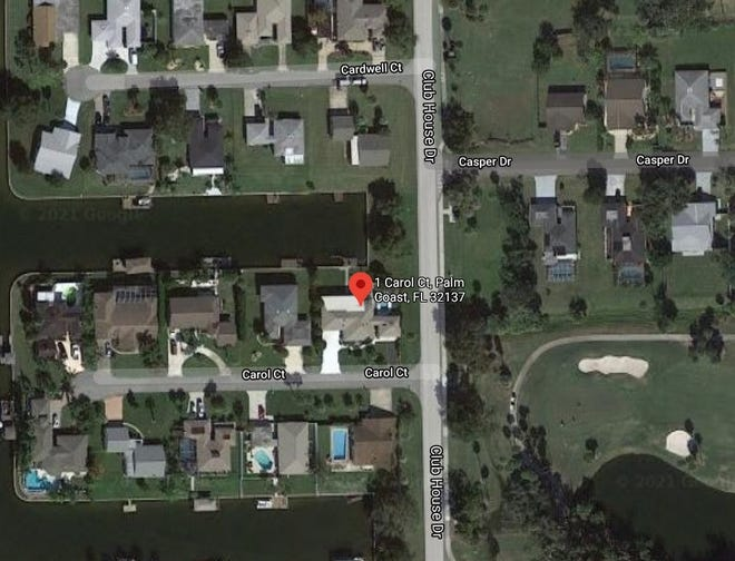 Troopers say a 40-year-old man died after driving into a canal behind the home at 1 Carol Court in Palm Coast on Thursday, March 18, 2021.