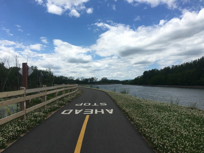 The section of the Erie Canal trail between the German Flatts Town Park in Fort Herkimer and Lock E-18 in Jacksonburg opened in 2019 with the extension to Route 167 in Little Falls opening last year.