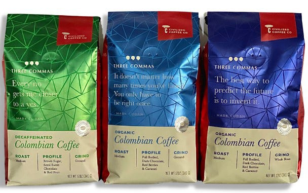 Civilized Coffee, a Jacksonville gourmet, specialty coffee roaster, has created a unique line of organic Colombian coffee in partnership with billionaire entrepreneur Mark Cuban, owner of the Dallas Mavericks.