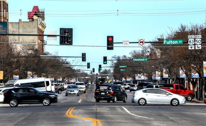 Traffic flows through downtown Garden City. The city will be holding a public meeting on Tuesday to begin the process of shaping the future of Garden City.