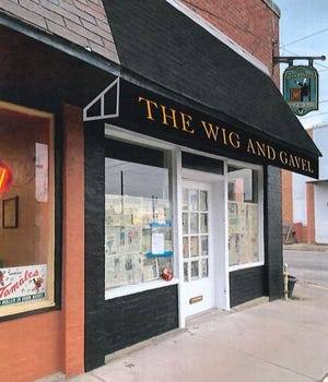 An artist rendering shows the exterior design for The Wig and Gavel, a new  pub looking to open in downtown Sherman.