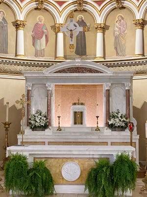 Here is the beautiful alter at the St. Leonard of Port Maurice Roman Catholic Church on the corner of Hanover Street and Prince Street in the North End. It is one of the oldest churches built by Italian immigrants in the United States.