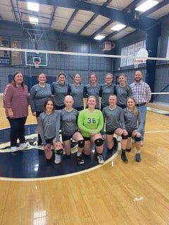 The West Prairie eighth grade volleyball team won sectionals on Thursday night.