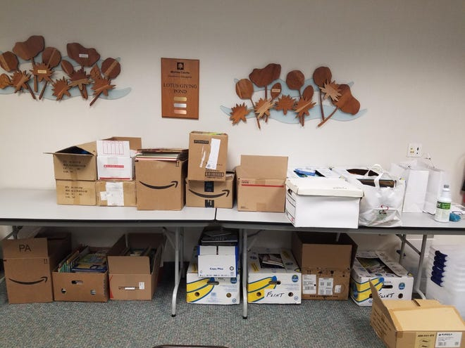 An ad hoc partnership in Monroe County is collecting and distributing children's books for free in the community. These are boxes of some of the books that have been distributed.