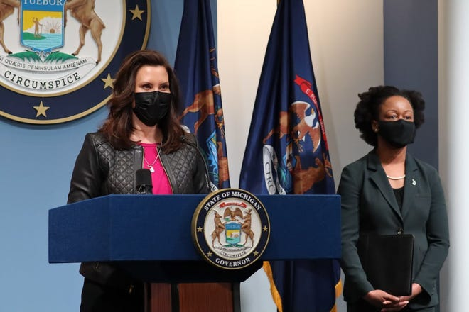 Governor Gretchen Whitmer and Michigan Department of Health and Human Services  Chief Medical Executive Dr. Joneigh Khaldun provided an update regarding COVID-19 vaccines and variants during a press conference March 19. The announcements included new steps for high school athletes to safely compete and increased capacity at outdoor stadiums.