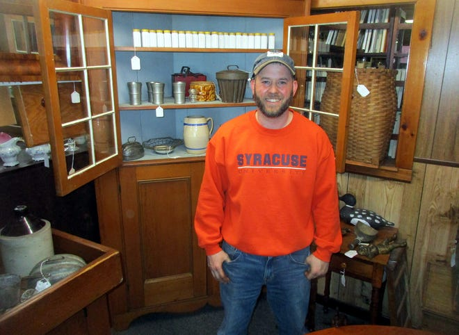 Allan Boice welcomes shoppers March 19 to Madison Inn Antiques in Madison. The Route 20 store will be one of many celebrating the new season April 9-11 with their Madison-Bouckville Spring Shop Hop.