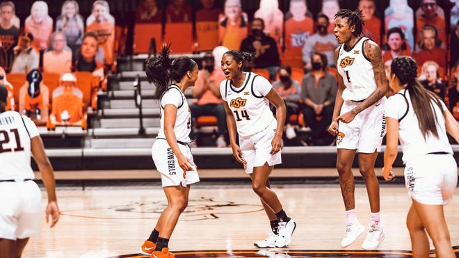 The Oklahoma State women's basketball team opens NCAA Tournament play as the No. 8 seed facing ninth-seeded Wake Forest at noon Sunday on ESPN2. [Bruce Waterfield/OSU Athletics]