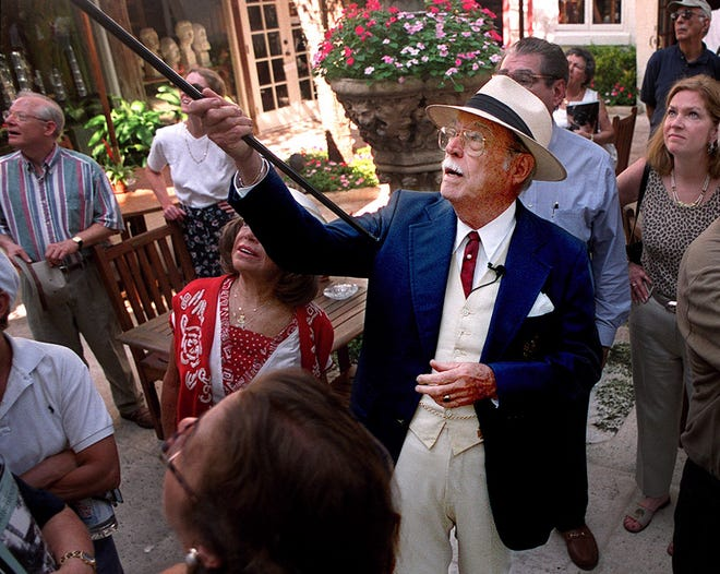 The late Jim Ponce was known for his historical walking tours of Worth Avenue and as a guide at The Breakers.