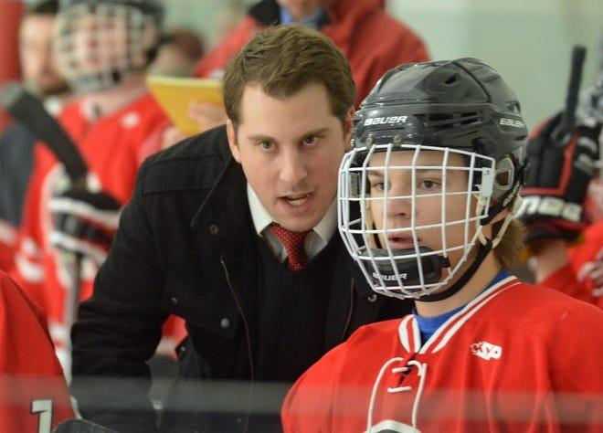 Jamie Ferullo has been the Spaulding High School head ice hockey coach for five years. He was once a big star for the Red Raiders, leading them to back-to-back Division II championships in 2005-06 and 2006-07
