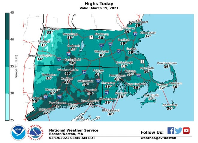 Expect a chilly day Friday.