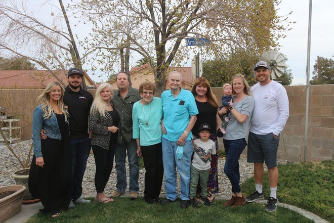 The Poppen family poses for a group portrait at Carole and Gale's 65th anniversary March 14, 2021.