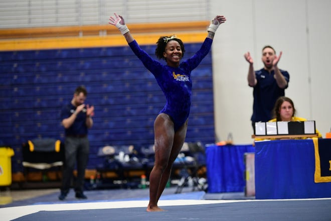 Jade Brown has made the most of her final season as a member of the Kent State gymnastics team in 2021.