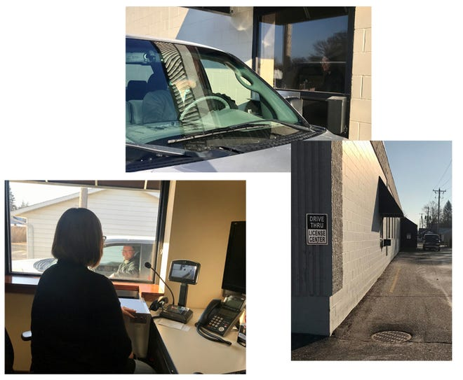 Vehicle tab renewals can now be processed from your car at the License Center drive thru window, located on the south side of the Government Center.