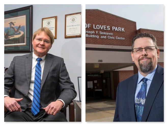 Incumbent Bob Burden and challenger Clint Little are vying to become the next City Clerk of Loves Park in the April 6 general election.