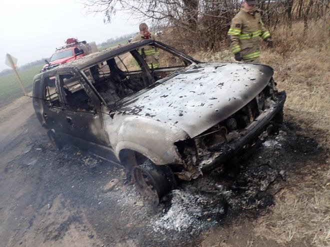 The Saline County Sheriff's Office is investigating after a 1998 Isuzu Rodeo was found on fire Wednesday.
