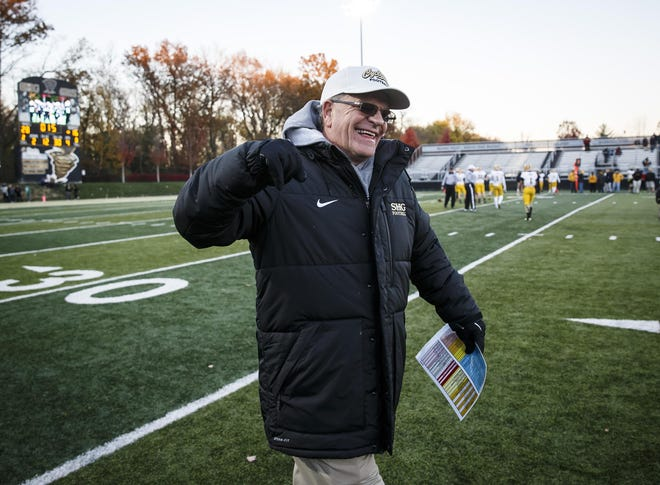 """SHG football coach Ken Leonard (seen here in a file photo) is pumped to have filled a Week 1 cancellation with Kankakee. """"They think (at Kankakee) this might be the best team they've ever had in school history and we're going to jump right in,"""" Leonard said. """"Up there, guys like Edgy Tim (Illinois high school football reporter Tim O'Halloran from Channahon) has this as the game of the week for the state of Illinois."""""""