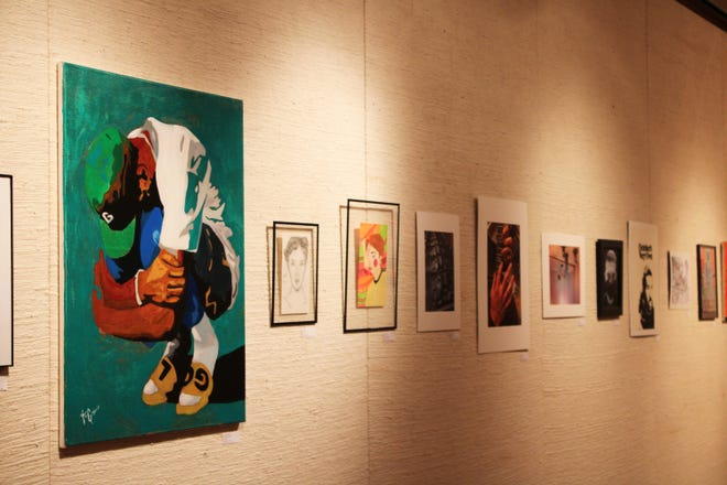 The high school juried art show has opened at the Mabee-Gerrer Museum of Art. Bethel High School and North Rock Creek High School students are among those with entries.