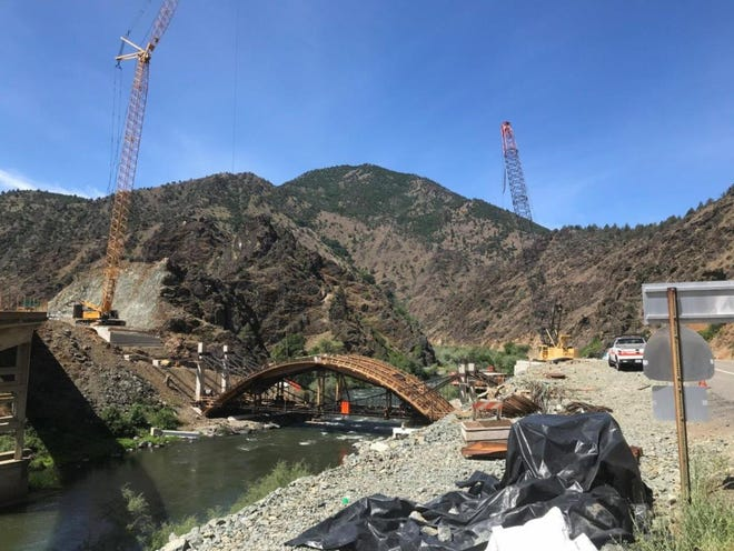 Construction on the Klamath River Bridge will close Highway 263 for a month starting on March 29, 2021.