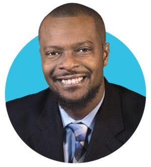 Tabari Wallace, former principal at West Craven High School and 2021 Raymond Sarbaugh Leadership Award recipient.