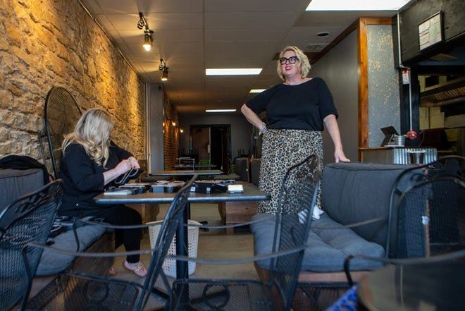 NOTO business owner Jenny Torrence, right, and Rachel Holthaus