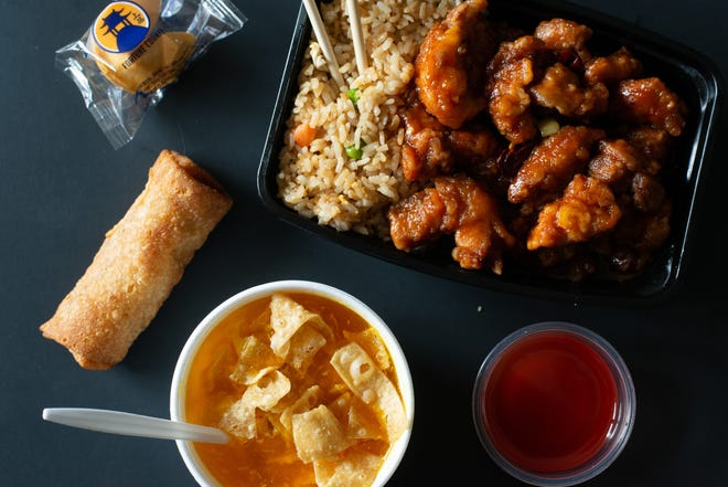 Ling's Bistro at 1550 S.W. Wanamaker Road serves hot, fresh Asian food for dine-in, carryout or delivery. The General Tso's dinner combo featured here comes with a choice of soup or a salad, egg roll and fortune cookie for $9.29.
