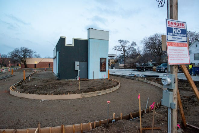 The site of a future Dunkin' Donuts location, near S.W. 6th and Washburn, is seen under construction Thursday morning. The new Dunkin' is expected to open in late spring or early summer of 2021 and will be a drive-thru-only location.