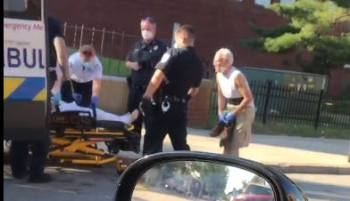 An image from the scene of the incident, captured from video.
