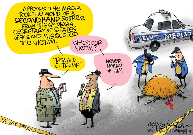 The news media victimized Trump with false quotes.