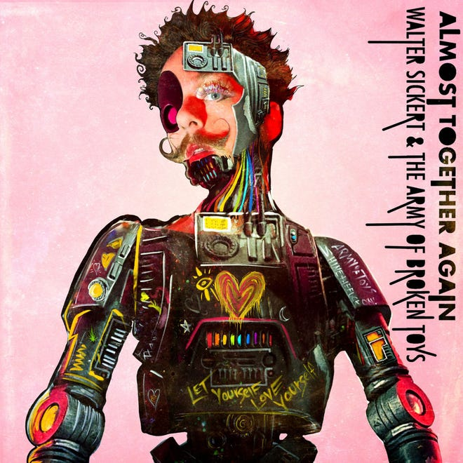 """The cover to """"Almost Together Again,"""" the new album from Walter Sickert & the army of Broken Toys."""