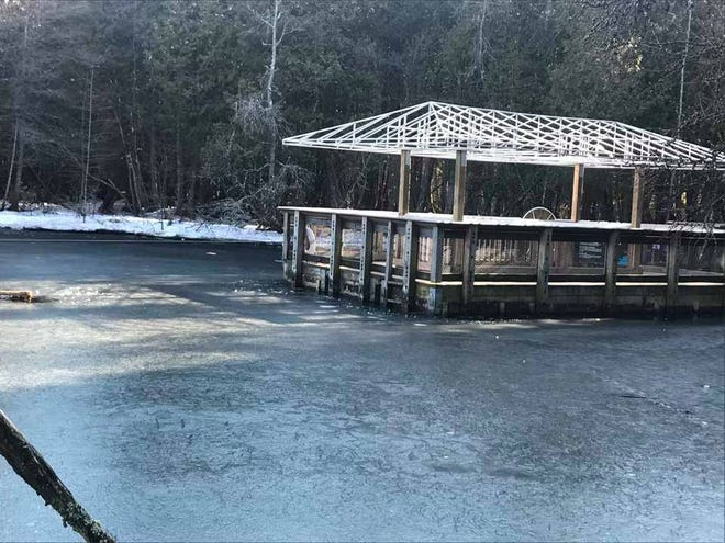 Kitch-iti-kipi, The Big Spring, in Palms Book State Park was frozen on the surface Wednesday. David Strasler, who has lived in Manistique for 61 years, took this photo March 17, 2021.