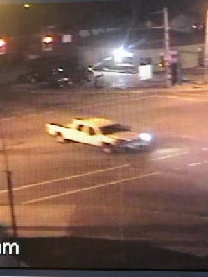 Police believe this is the pickup truck involved in a fatal hit-and-run accident about 7 a.m. Friday on Indiana 43 between Chalmers and Reynolds.  The truck hit a moped driver, who died at the scene.