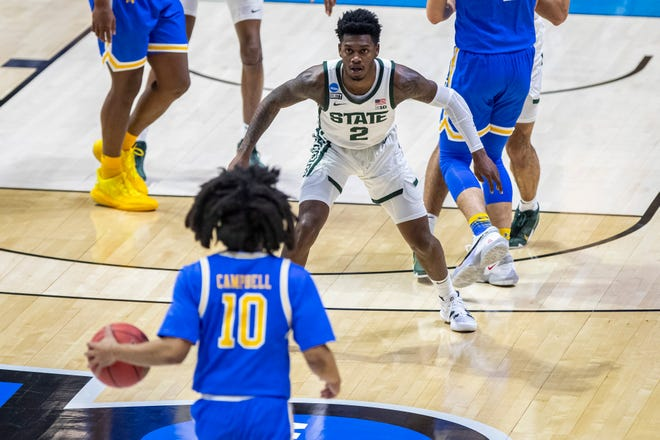 Rocket Watts' final game at MSU came against UCLA this season in the NCAA tournament. Watts has entered the transfer portal after his sophomore season with the Spartans.