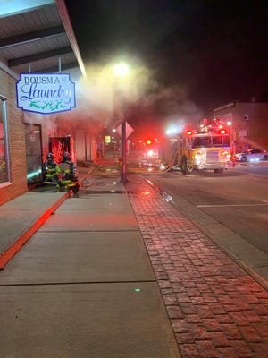 Western Lakes Fire District responded to a fire at Dousman Laundry.